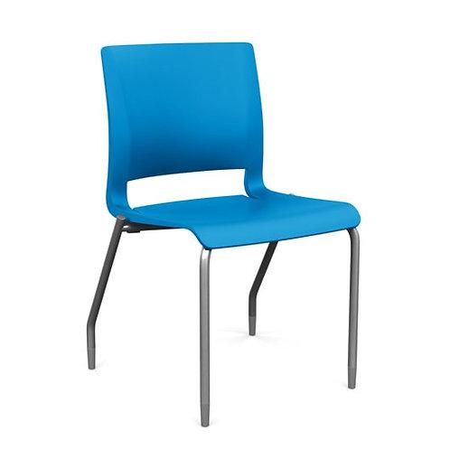 Rio Armless Chair - Plastic - Pacific