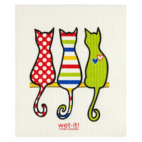 Cat Lover Multi Wet-It Swedish Dish Cloth