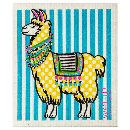 Polka Llama Wet-It Swedish Dish Cloth