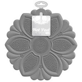 Grey No-Slip Grip Hot Pad/Trivet