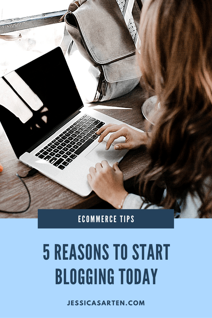 5 reasons to start blogging today graphic