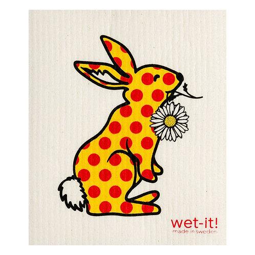 Polka Bunny Wet-It Swedish Dish Cloth