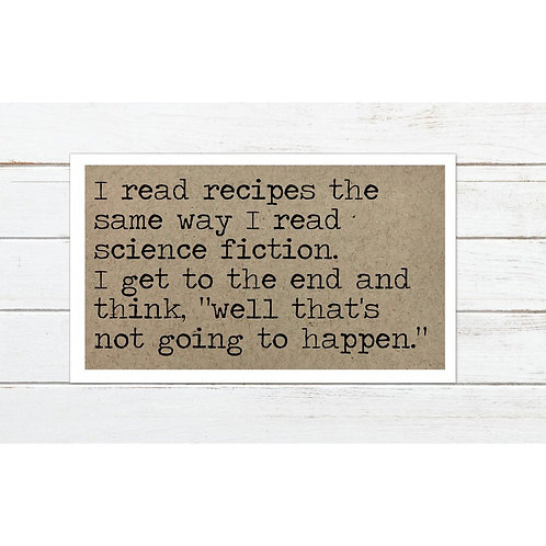 Recipe Science Fiction Magnet by Says The One