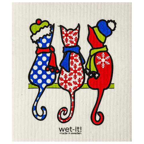 Cold Cats Wet-It Swedish Dish Cloth