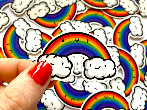Mini Rainbow Vinyl Sticker