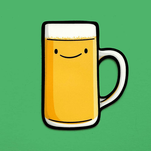 Beer Mug Vinyl Sticker