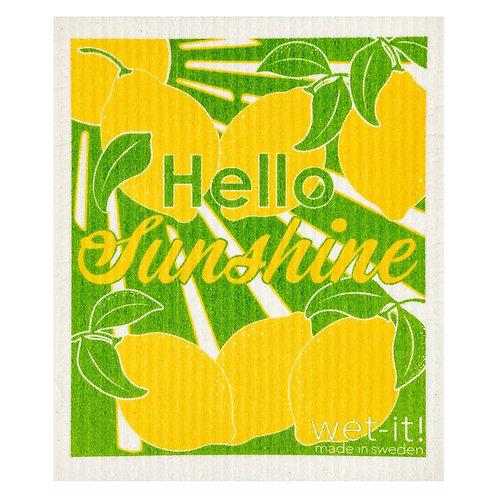 Hello Sunshine Wet-It Swedish Dish Cloth