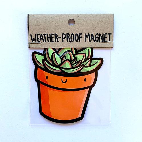 Succulent Weatherproof Magnet