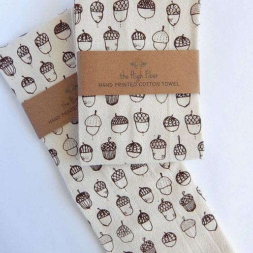 Acorn Cotton Tea Towel