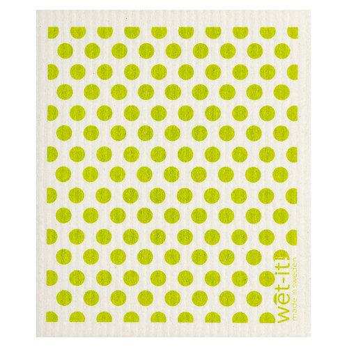 Dots and Dots Green Wet-It Swedish Dish Cloth