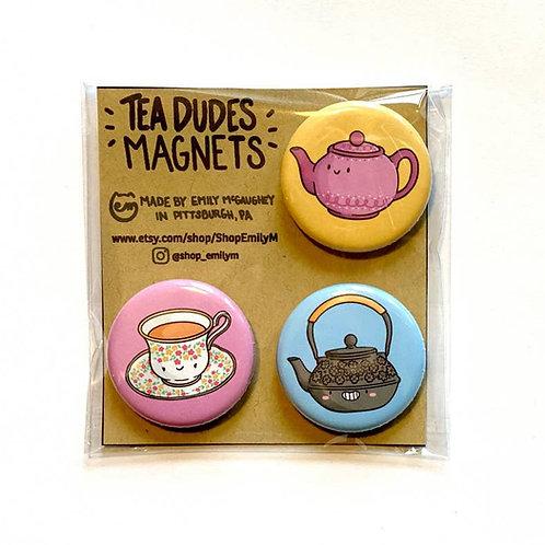 Tea Dudes Magnet - Pack of 3