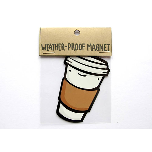 To Go Coffee Cup Weatherproof Magnet