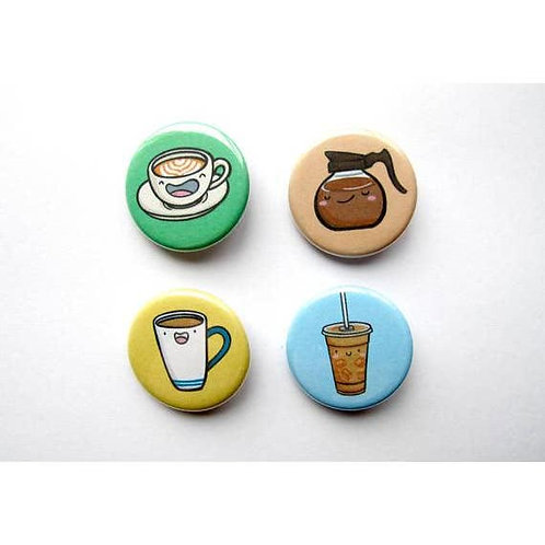 Coffee Dudes Pin - Pack of 4