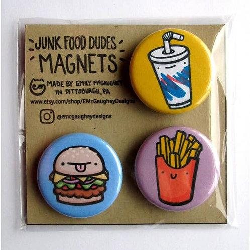 Junk Food Dudes Magnet (Set 1) - Pack of 3