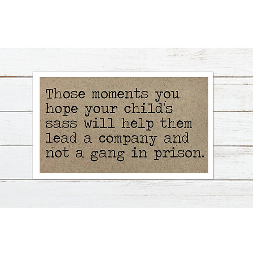 Gang in Prison Magnet by Says The One