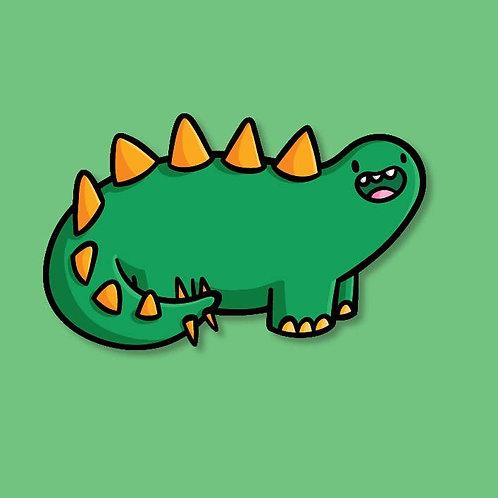 Stegosaurus Vinyl Sticker