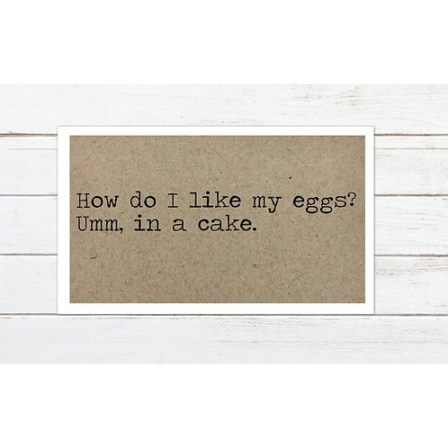 Eggs in a Cake Magnet by Says The One