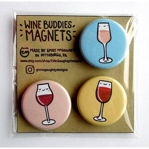 Wine Buddies Magnet - Pack of 3