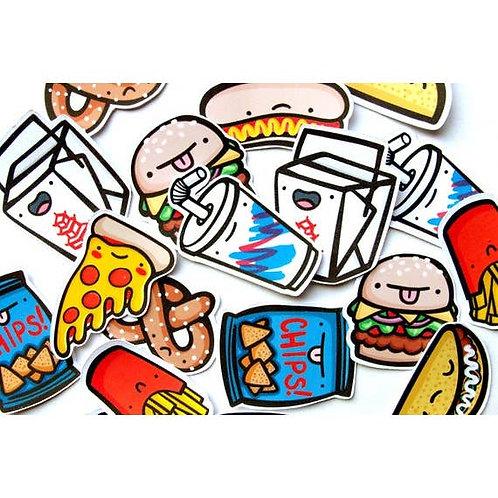 Junk Food Dudes Sticker Pack