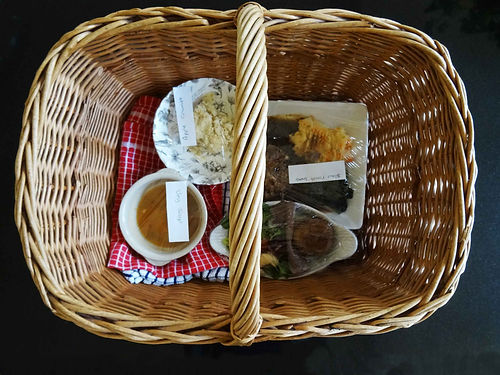 Wicker basket with food photo DJ Bowman-Smith