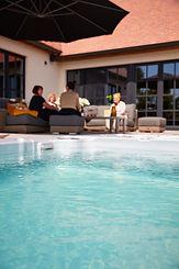 Zwemspa, jacuzzi, zwembad, natuur, ontspannen, bubbelbad