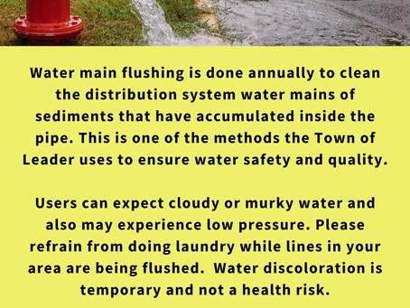 Flushing of Water Lines