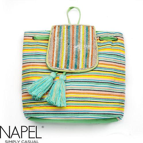 Handloom Pastel Beads Backpack
