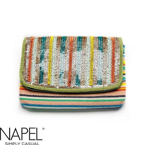 Handloom Cotton Beads Coin Bag