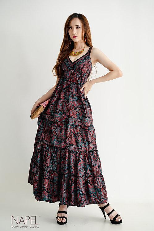 Wide Strap Gypsy Long Dress