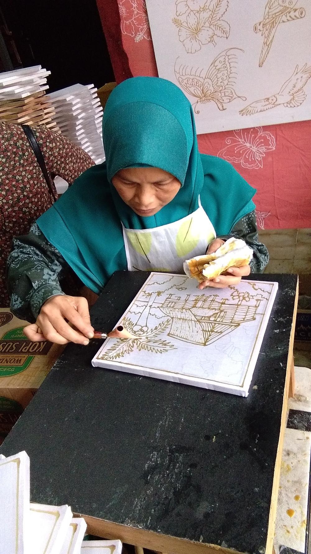 Batik is a wax resist fiber art