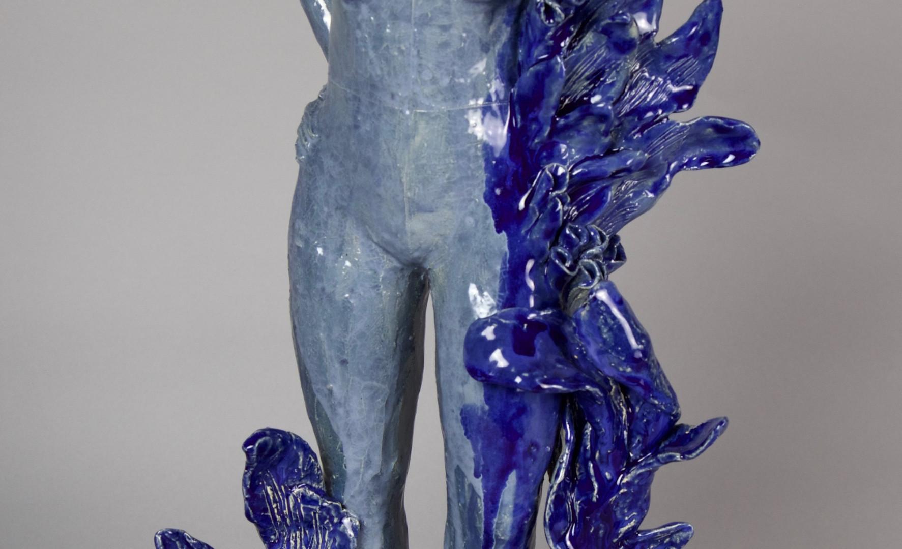 In Potentia Blue, ceramic