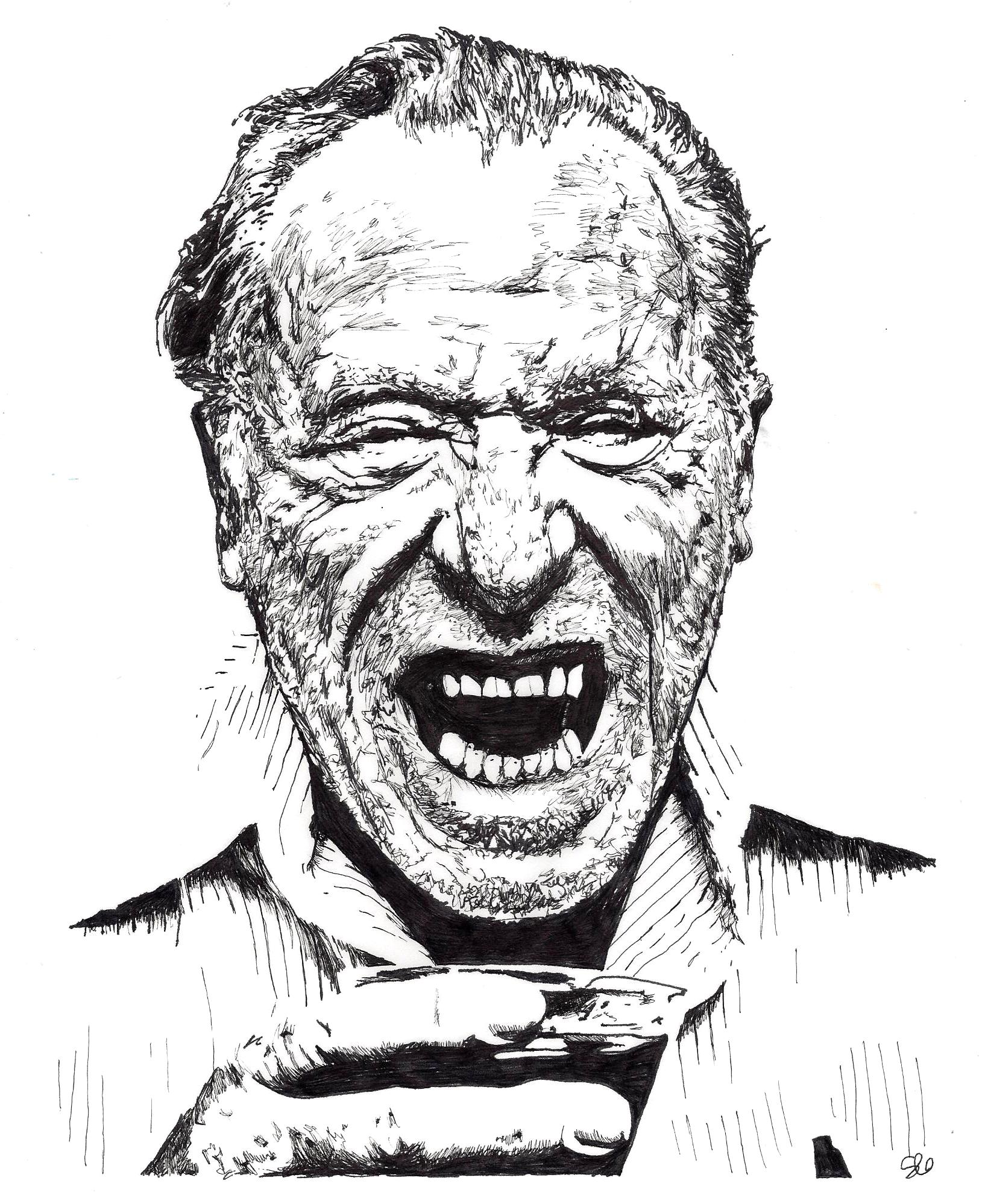 Charles Bukowski by Stevi Draws