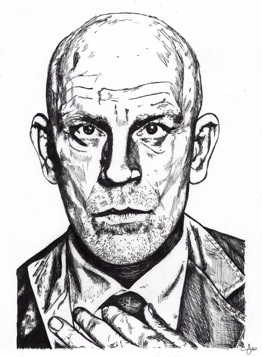 John Malkovich by Stevi Draws