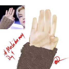 jimin study: his cute hands