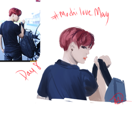 Jimin study: red hair school au?