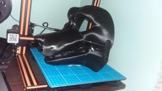 3d printed hell hound head