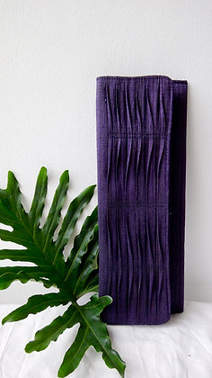 Abaca Bálud Clutch in Purple