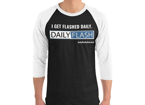 The Get Flashed 3/4 sleeve raglan shirt
