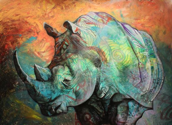 The Rhino - Print