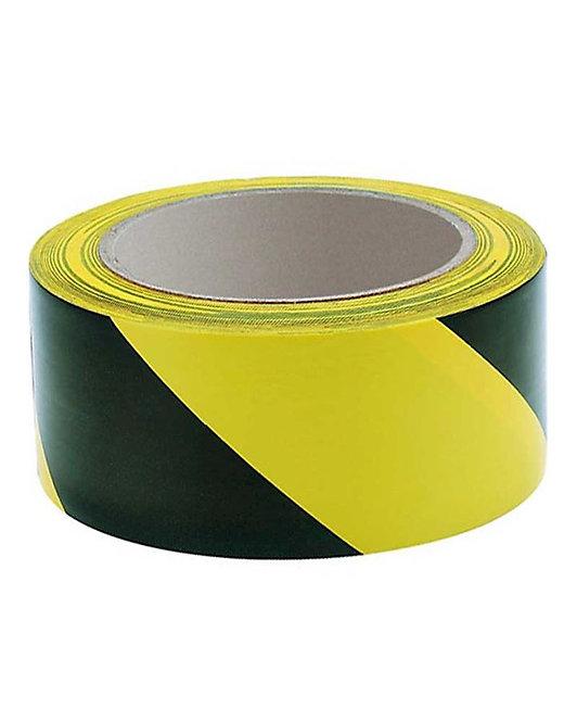General Purpose Black/Yellow Hazard Warning Tape - 48mm x 66m