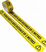 Social Distance Warning Tape Black & Yellow - 48mm x 66m