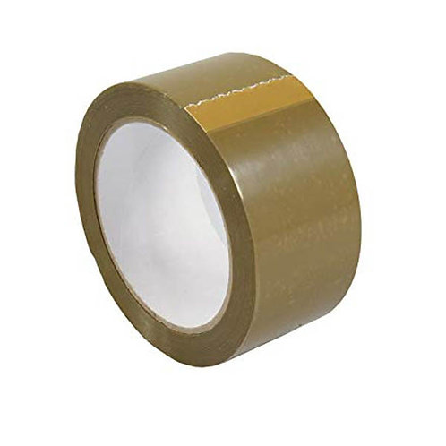 Vinyl Box Sealing Tape - 48mm x 66m Buff