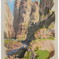 The Theatar, Stream of wady Mousa, Petra