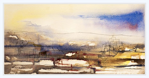 GLOWING HORIZON  Watercolors  30 x 50 cm