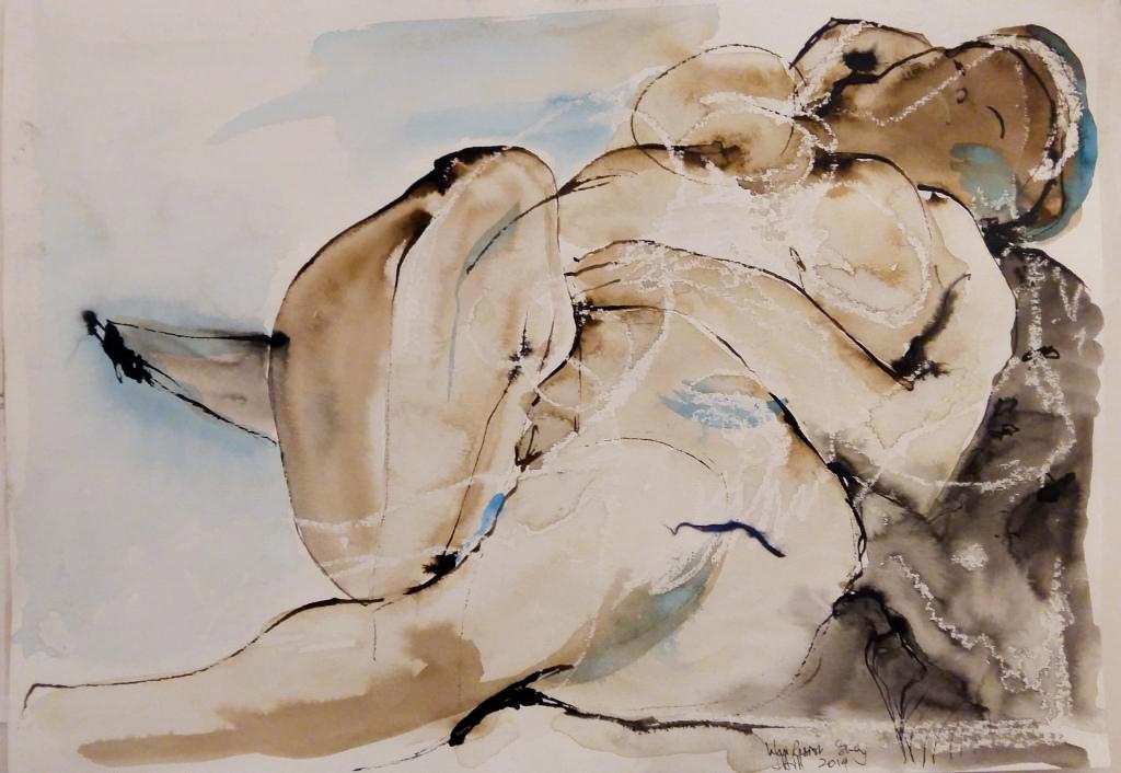 Judith Hill reclining nude