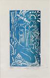 Jamil Hamoudi 1924-2003 Iraq Woodcut 1974 11/25 22.5×14.5 cm