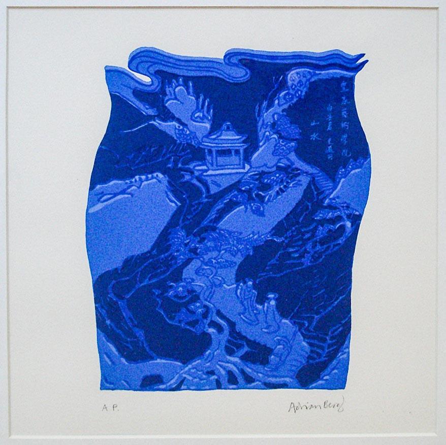 Adrian Berg 1929- 2011 UK Silkscreen A.P 40 x40 cm