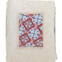 4 layered stencil on handmade paper  22x28cm