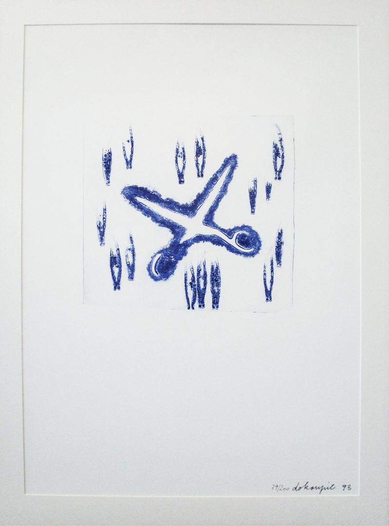 Jiri George Dokoupil 1954 Czech  Etching 1993 79/200 75.2×53.5 cm