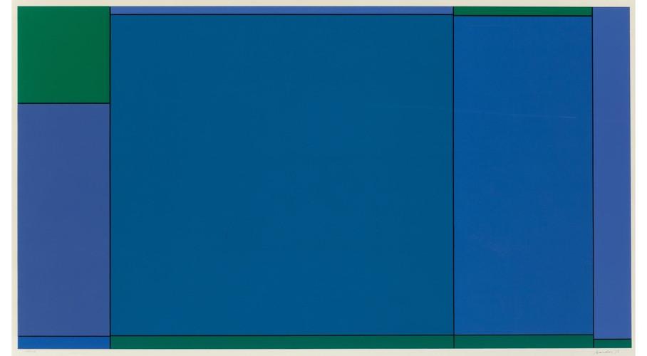 Ludwig Sander 1906- 1975 USA Silkscreen 97/144 1973 180 x 70 cm